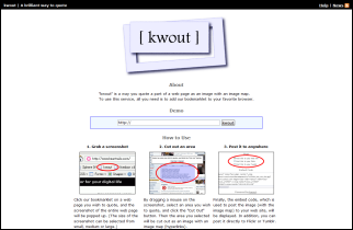 kwout screenshot homepage
